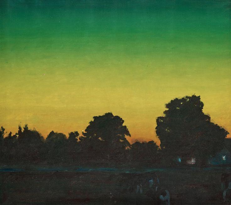 Ola Billgren (Swedish, 1940-2001), Himmel [Sky], 1973. Canvas, 65 x 71 cm.