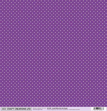 SR190P Small White Dots On Purple