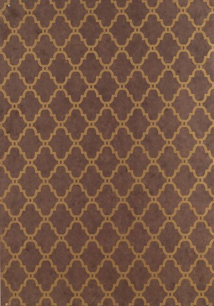 Lisbon Wallpaper In Metallic On Dark Brown From The Artisan Collection