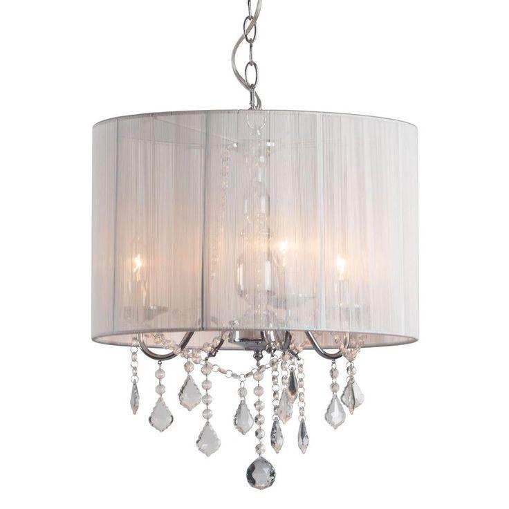 ZUO Shasta 3-Light White Ceiling Lamp-50220 - The Home Depot