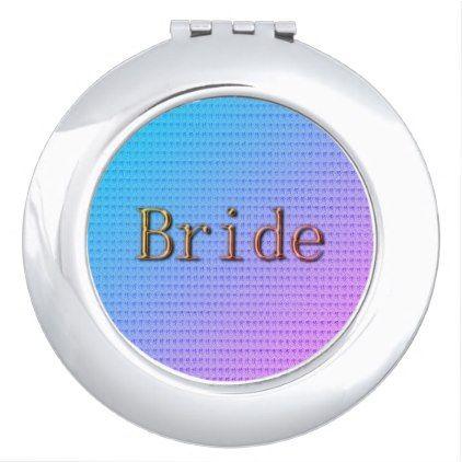 #bride - #Bride_Spring-Summer(c)Tropic-Blue-Pink-Bronze Makeup Mirror