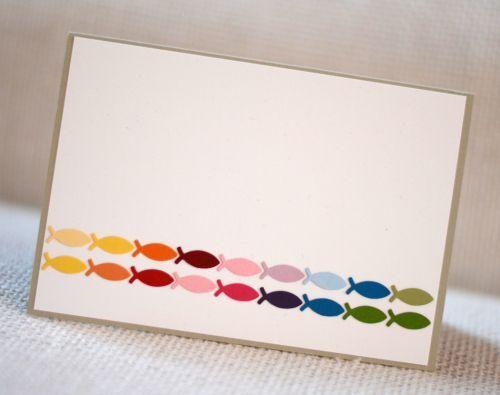 Taufe - Einladung - Fisch - Regenbogen:
