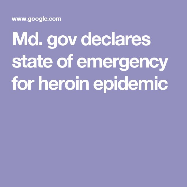 Md. gov declares state of emergency for heroin epidemic
