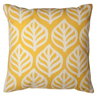 "Room Essentials® Embroidered Leaf Toss Pillow (18x18"")"