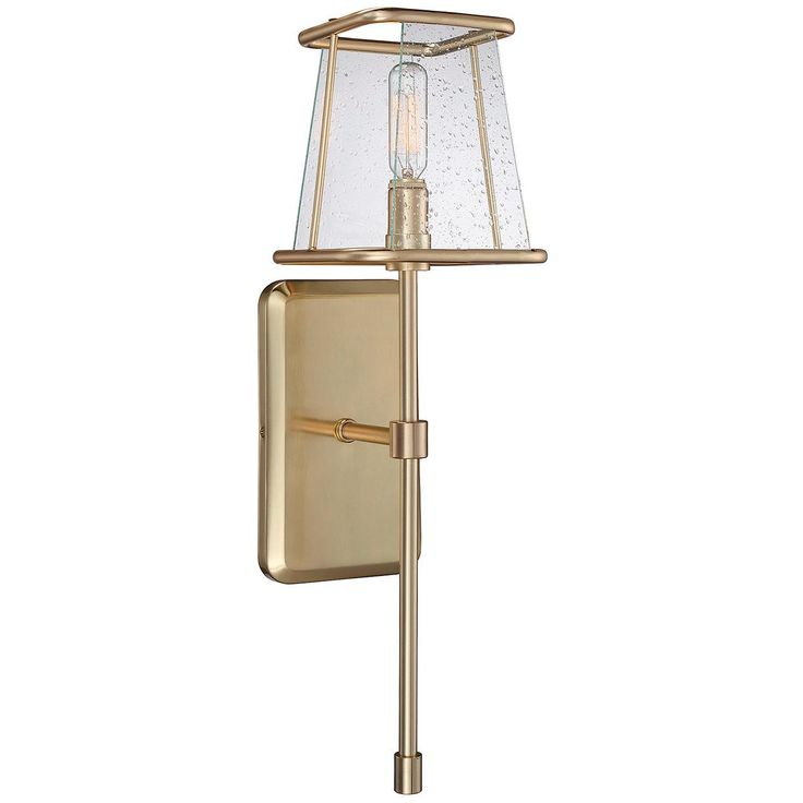 Clear Seeded Glass Shade Wall Sconce