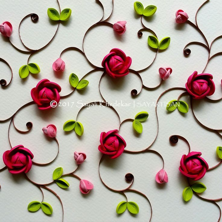 Spectacular Pietra dura inspired quilling series by artist Sayali Khedekar.
