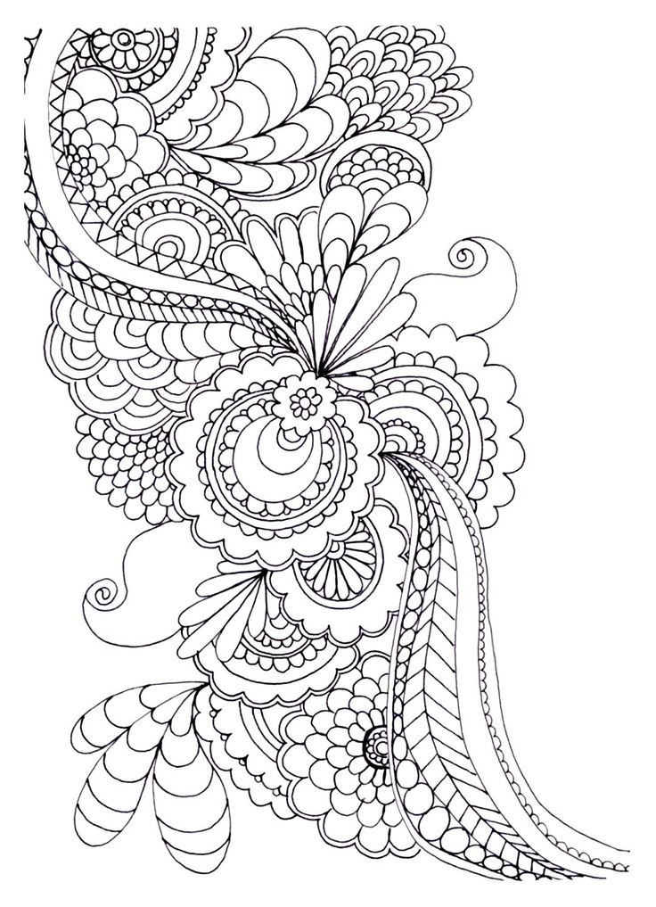 anti stress coloring pages advanced - photo#24