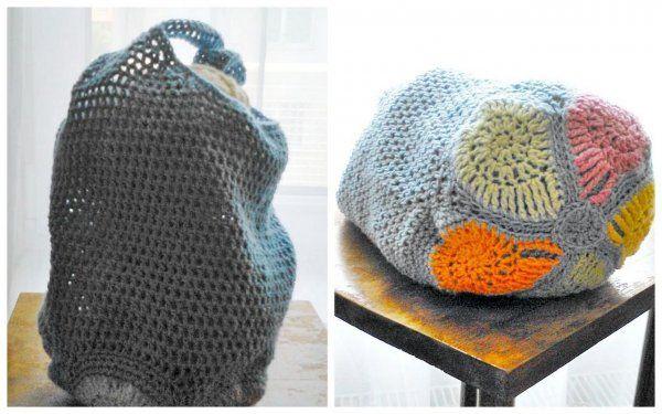 crochet bag snail horgolt szatyor csigával