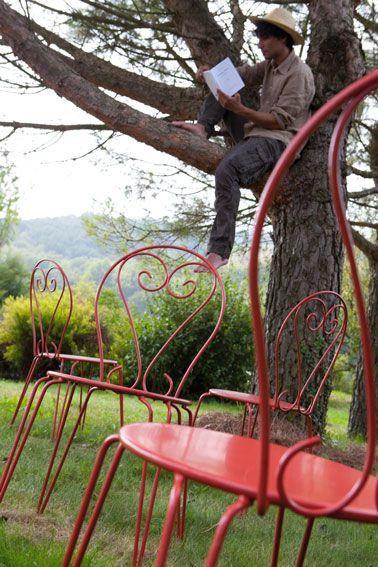 Repeindre un salon de jardin en fer directement sur la rouille jardin peinture fer agr ment - Repeindre un salon ...