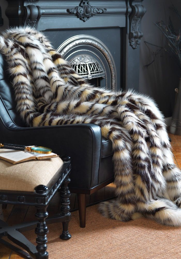 Sectional Sleeper Sofa Luxe Faux Fur Throws
