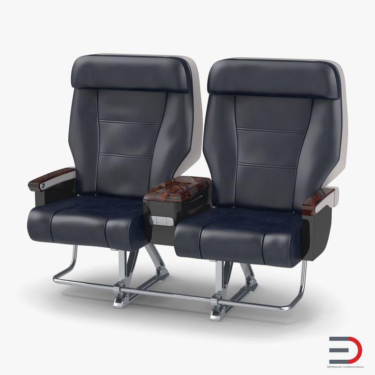 First Class Passenger Double Aircraft Seat model