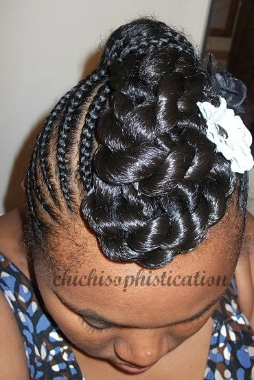 Cornrows & Twist Updo. Styled by Katrina Johnson