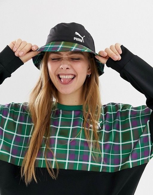 178414719c91f Puma exclusive green check bucket hat in 2019