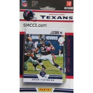 2012 Score Houston Texans Sealed 12 Card Team Set Including Matt Schaub, Arian Foster, Andre Johnson, Owen Daniels, Case Keenum, Devier Posey, Jared Crick, Whitney Mercilius, Kevin Walter, Brian Cushing and Keshawn Martin. by 2012 Score. $6.95. All cards in the set are at least NRMT/MT to MINT condition!. Set will make a great gift idea for any fan of this team!. Great looking 2012 Score Football Card Team Set (Factory Sealed). This is one of the 32 different sets available f...