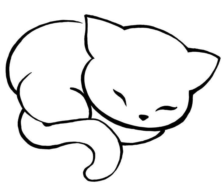 Chat qui dort | Galerie de photo et modèle de tatouage