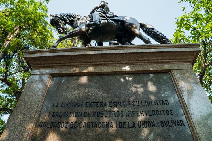 "Simón Bolivar, ""el libertador"" siempre presente."
