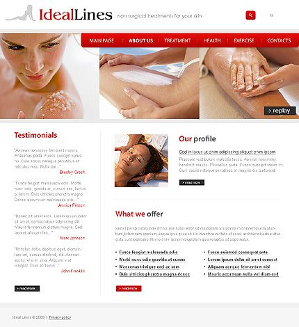 Ideal Lines Website Templates by Delta