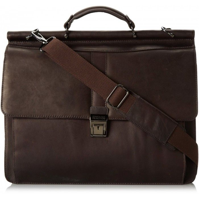 KENNETH COLE REACTION ROD LIGHT COLOMBIAN DOWELROD COMPUTER BRIEFCASE