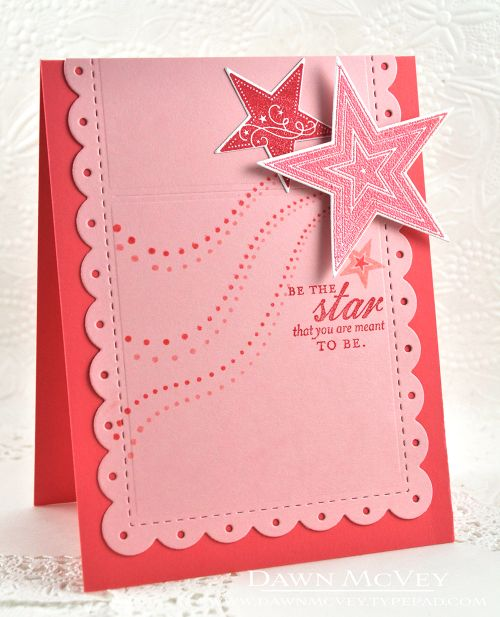 Super Stars Revisited: Be The Star Card by Dawn McVey for Papertrey Ink (July 2016)