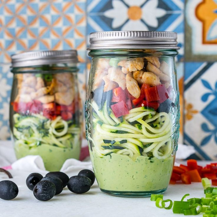 Creative Clean Eating: Zoodle Chicken Salad-In-a-Jar! - Clean Food Crush