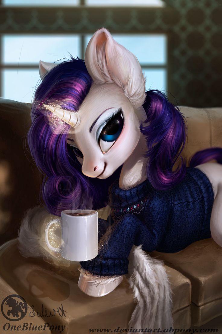 ¡Genial...! Mi pony favorita con mi bebida favorita... Café...