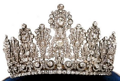 The Luxembourg Empire Tiara  Coming in at number 12 on your list of favorite tiaras we have one of the largest diadems in use today, the Luxembourg Empire Tiara. Composed of massive amounts of diamonds in the Empire style potentially dating from the early 19th century, it earns its name on scale alone.