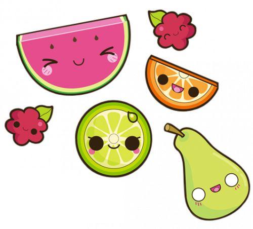 Kawaii Fruits :3 | via Tumblr | Food Charms | Pinterest ...