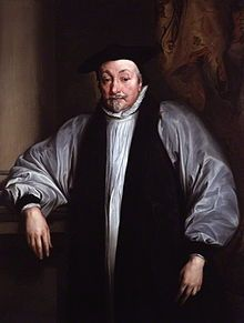 The Archbishop of Canterbury, William Laud. He was beheaded on Tower Hill in 1645 after being found 'guilty of endeavouring to subvert the laws, to overthrow the Protestant religion, and to act as an enemy to Parliament'.