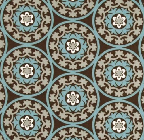 Robert Allen Suzani Azure Fabric eclectic upholstery fabric