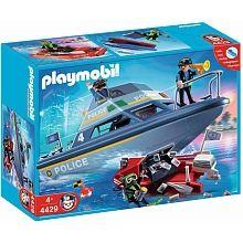 Playmobil - La vedette de police et le bateau du bandit - 4429 - Seulement chez Toys R Us !