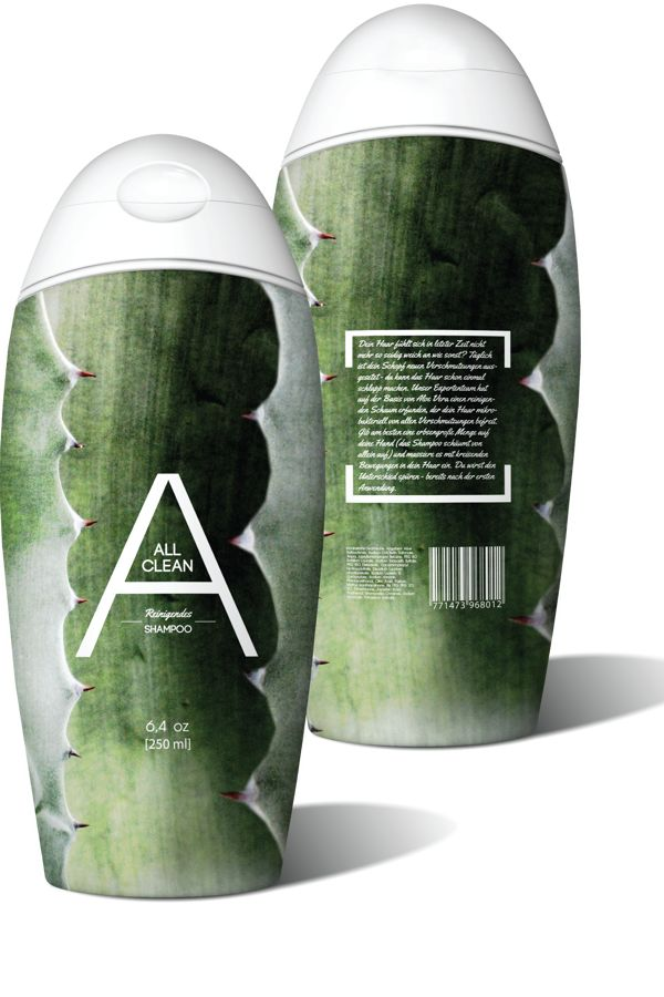 [All Clean] Shampoo. by MW [Graphic Design], via Behance I like this shampoo #packaging. How about you? PD