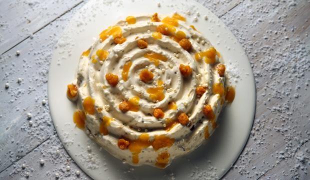 Lakkaparfee #maajakotitalousnaiset #joulu #lakka #cloudberry #parfee #jäädyke #jälkiruoka
