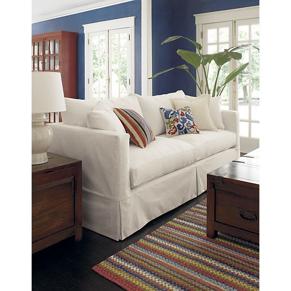 Willow Queen Sleeper Sofa in Sleeper Sofas | Crate and Barrel. Love so much, wish I could have it!