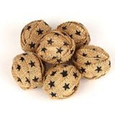 Small Black Star Rag Ball Bowl Fillers ~ from our Black Star Farm House Collection. The small black star rag ball bowl fillers adds a nice decorative touch to your country or rustic decor.