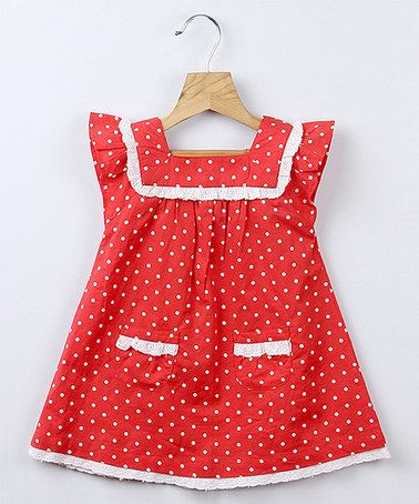 Love this Red Polka Dot Lace Dress - Infant, Toddler & Girls on #zulily! #zulilyfinds