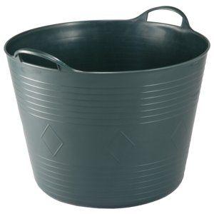 Der Gartenkorb in der Farbe Grün von Kreher hat ein Fassungsvolumen von ca. 40 l und ist mit einer Füllstandsanzeige im Innenrand versehen. Er eignet sich für flüssige und feste Stoffe mit mittlerem Gewicht. Die seitlichen Tragegriffe und der flexible Korpus aus strapazierfähigem Kunststoff sorgen für einen bequemen Transport. Der Gartenkorb ist ca. 34 cm hoch und hat einen Durchmesser von ca. 47 cm.,− Fassungsvolumen von ca. 40 l,− Füllstandsanzeige im Innenrand,− Geeignet für flüssige und…