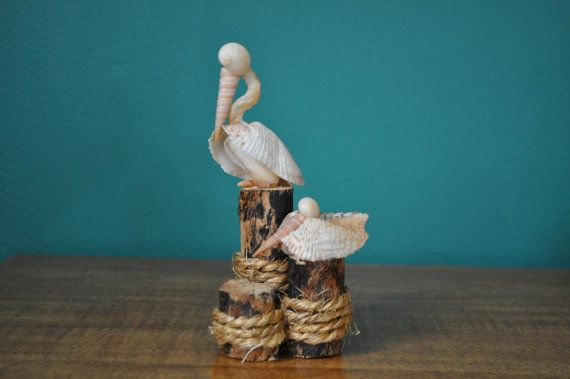 Seashell Pelicans by BCSeaShells on Etsy