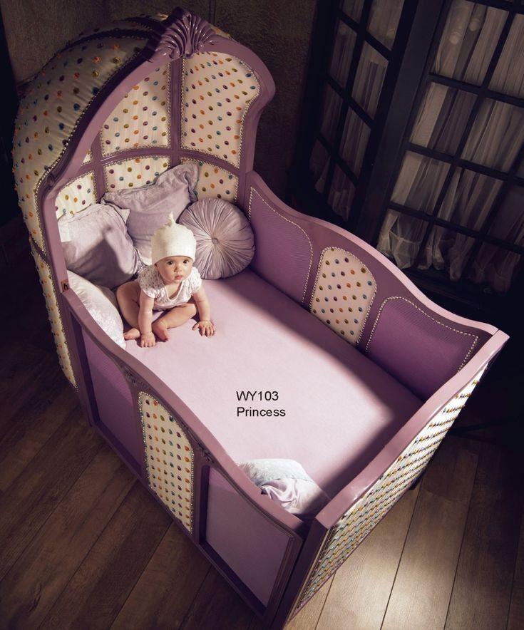 Европейской роскоши деревянные фиолетовый кроватки принцесса тема детская кроватка в том числе колеса немецкий бук