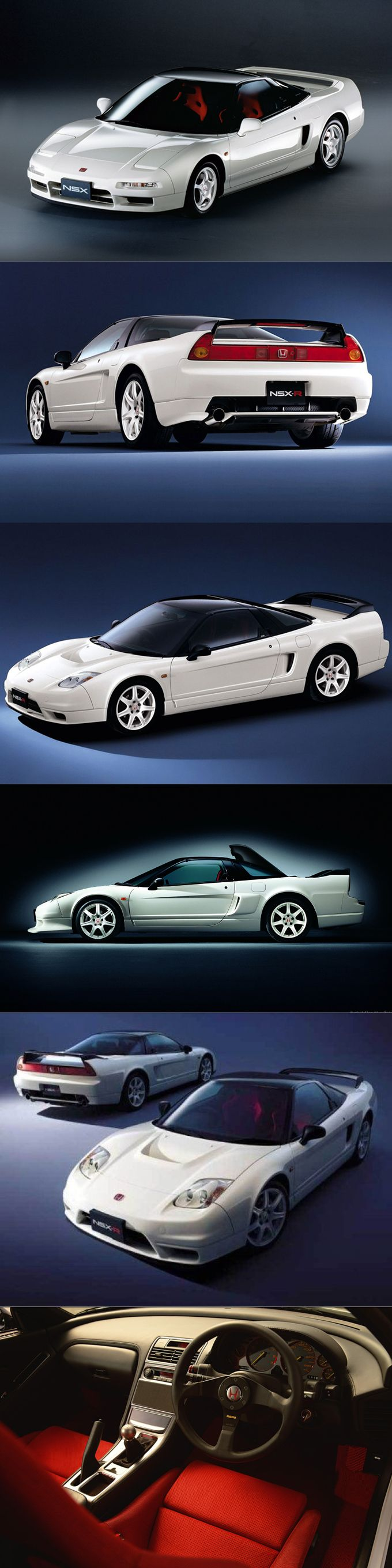 1990 Honda NSX / 1992 NSX-R / 2002 facelift / Japan / Type R / white red