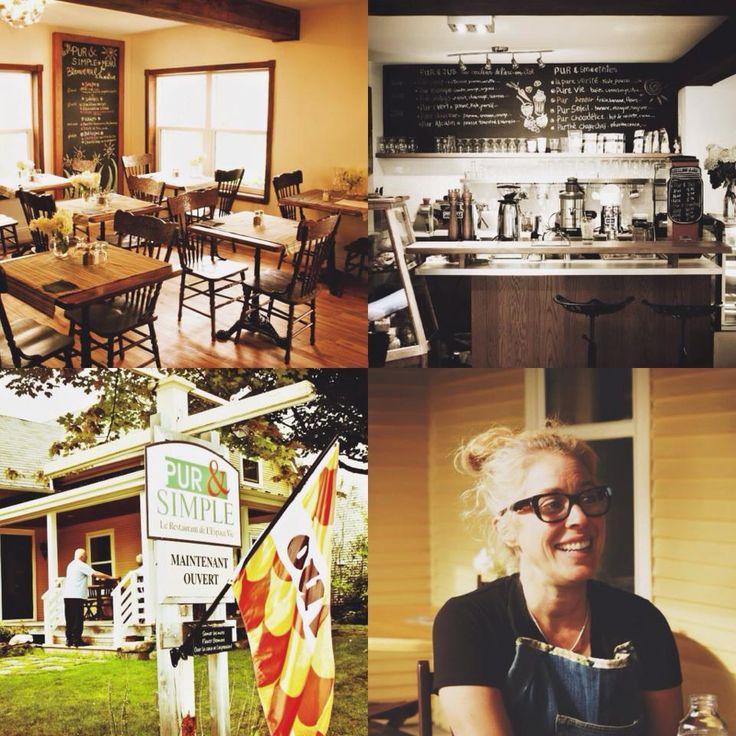 Pur et simple: Resto végé comprenant un bar à jus frais. Bio. A Bromont.