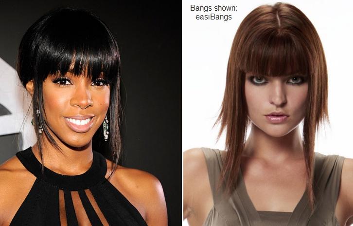 Get Kelly Rowland's blunt edgy bangs with the easiBangs by easihair!