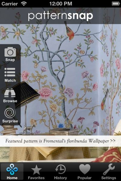 17.6.14 - Today's Featured pattern is Fromental's 'floribunda' Wallpaper
