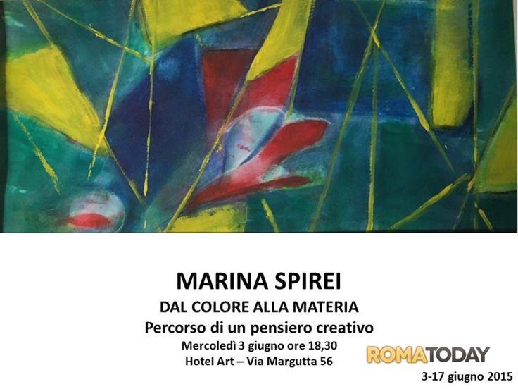 Dal #colore alla #materia della pittrice #Marina #Spirei quando il #colore è #protagonista