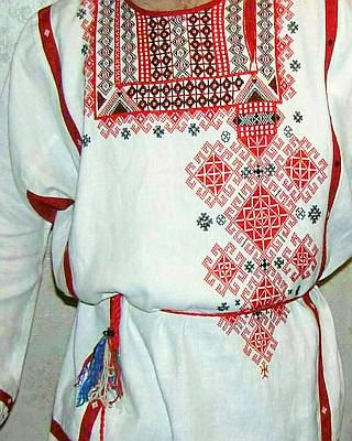 Рубаха -Russian men's festive shirt