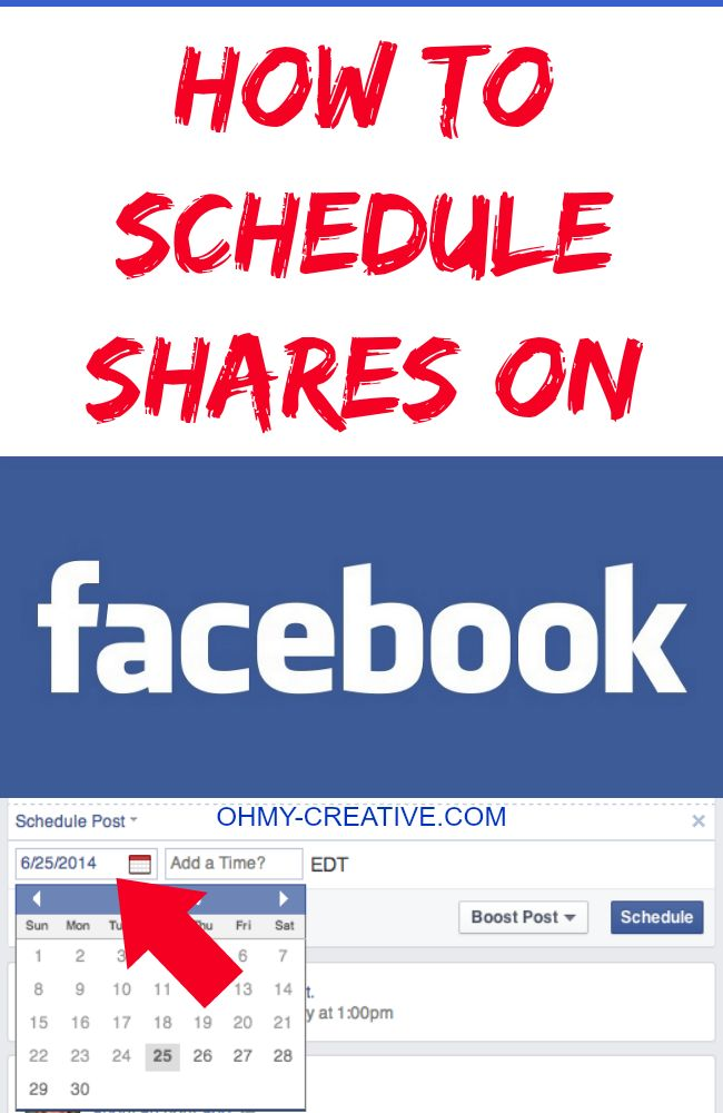 How To Schedule Shares On Facebook - Time saving business page tip   OHMY-CREATIVE.COM