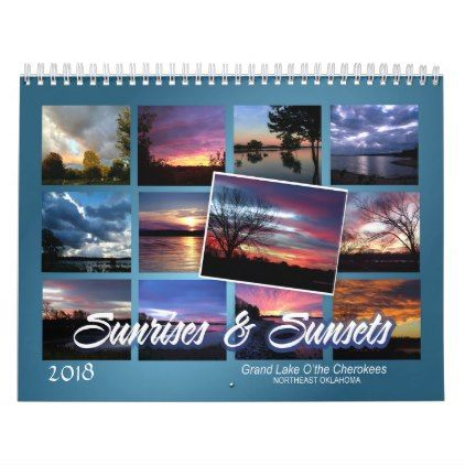 2018 sunrise sunset Calendar - image gifts your image here cyo personalize