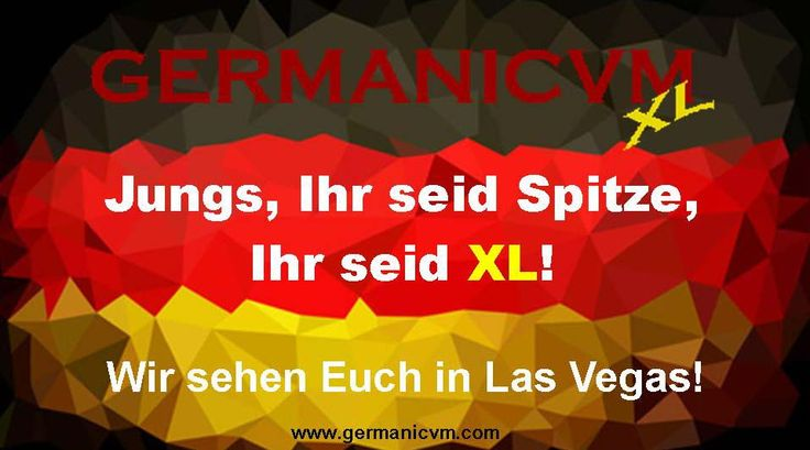 We did it! World Champions 2014. Yes, we can! http://www.germanicvm.com