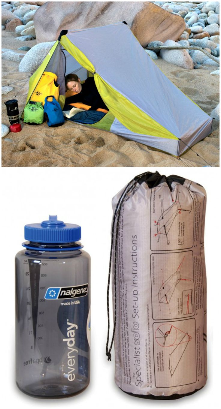 Or sleeping bags clothes pegs optional fairy lights optional - Specialist Solo Tent Almost Fits In A 1l Water Bottle