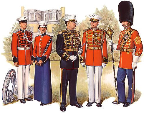 Marine Corps Band Uniforms on USMC History, Traditions, and Merchandise  http://www.usmc1.us/marine-corps-band