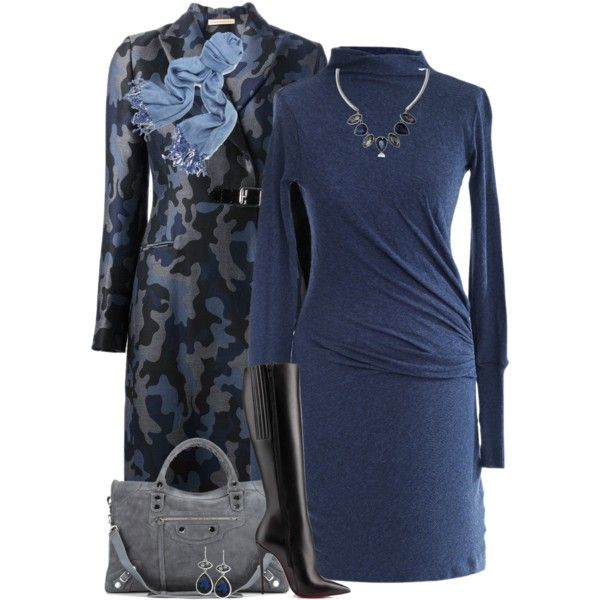 """""""Blue Camouflage Coat"""" by cathy0402 on Polyvore"""